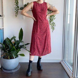 Vintage red floral maxi dress